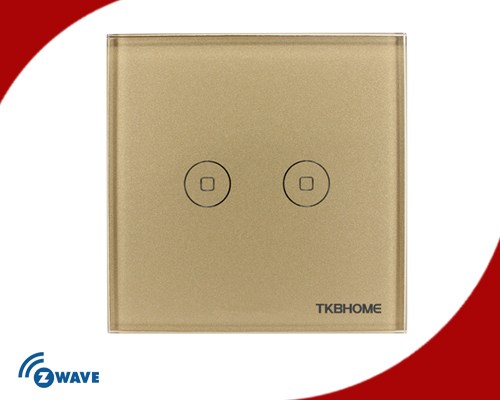 Z-Wave EU Frequency Two Channel Touch-screen Switch