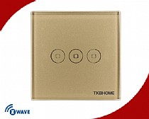 Z-Wave EU Frequency Three Channel Touch-screen Switch