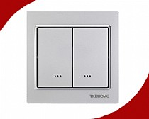 Z-Wave EU Frequency Two Channel Wall Mounted Switch